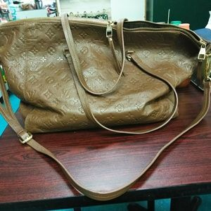 Louis Vuitton Brown leather